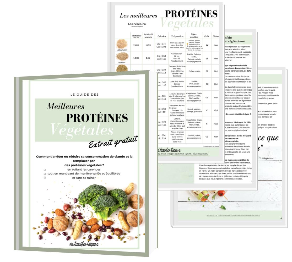 """Ebook """"Le guide des meilleures protéines végétales"""" Jennifer Limare"""